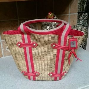 😍Straw Tote NWOT😍